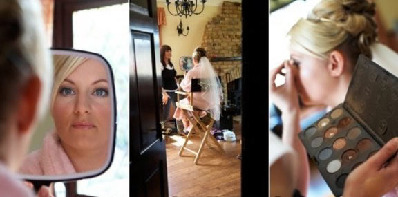 Essex Wedding Makeup artist creating bridal makeup magic captured by Essex Wedding Photographer
