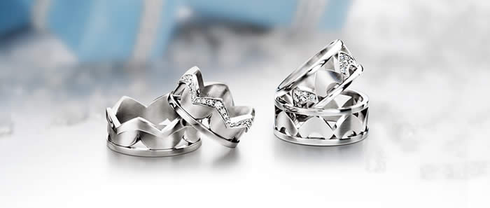 Wedding rings from Lance James Essex jewellers
