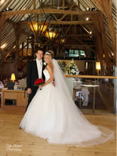 Bride and Groom at Barn Brasserie Essex Weddings Venue for Hire