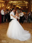 Bride and Groom dance at Barn Brasserie Essex for Weddings