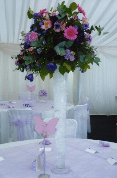 Wedding Floral Decoraton Table Centre created by an Essex Florist