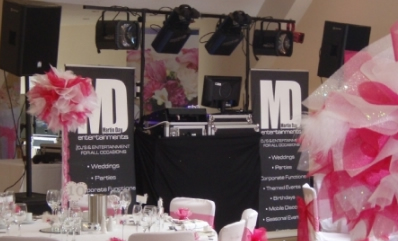 Essex DJ set up for a wedding