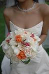 Bridal bouquet with colour themed highlights by Essex based Florist