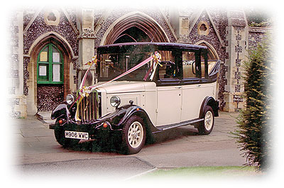 Asquith Carriage Wedding Car from an Essex Car Vintage Hire company
