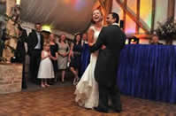 Essex Wedding Disco and DJ with bride and groom for the first dance