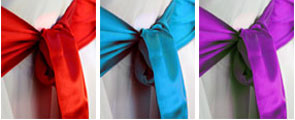 Sashes for chair covers for your Essex wedding