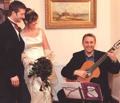 Classical Guitarist playing for your wedding in Essex